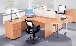Mesas de oficina operativas